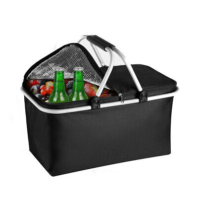 30L Extra Large Cooling Cooler Cool Box Picnic Camping Food Ice Drink Lunch Bag • 8.50£