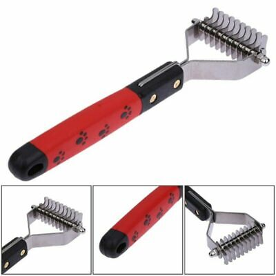Pet Cat Dog Hair Fur Shedding Trimmer Grooming Dematting Rake Comb Brush Tool • 3.99£
