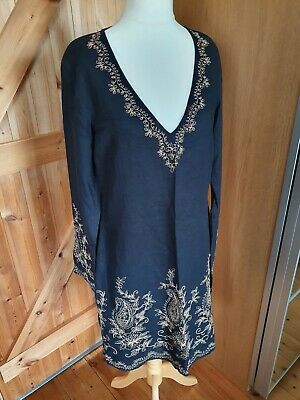 Gorgeous John Rocha Embroidered Sequinned Kaftan Size 14 • 7.47£