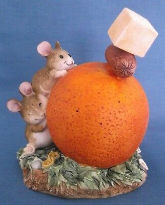 Border Fine Arts Merrie Mice Cocktail Party Fruit Fun Mouse A0603 Figurine Rare • 29.99£