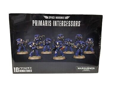 New WARHAMMER 40K Space Marines Primaris Intercessors 10 Citadel Miniatures • 20£