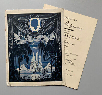 Gala Performance Programme In Memory Of Anna Pavlova, Regal Cinema, London 1936 • 9.99£