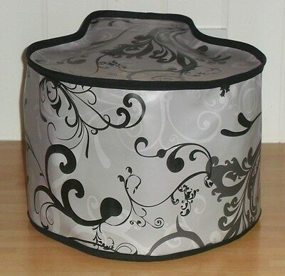 Black Edged Swirls Vinyl Dust Cover For TEFAL ACTIFRY FAMILY • 14£