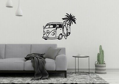 £4.98 • Buy Camper Van Surf Inspired Design Peace Sea Wall Art Decor Decal Vinyl Sticker