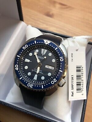 $ CDN346.91 • Buy New SEIKO SRP773K1 SRP773 Turtle Diver Watch + Crafter Blue Navy Rubber Strap