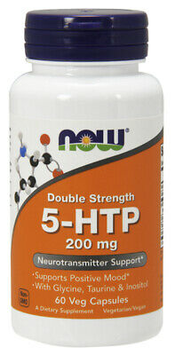 AU24.17 • Buy NOW Supplements 5-HTP, Double Strength 200 Mg - 60 Veg Capsules