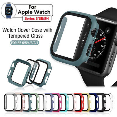 $ CDN3.61 • Buy  Fit Apple Watch Series 6/SE/5/4 40mm/44mm Hard Case Full Screen Protector Cover