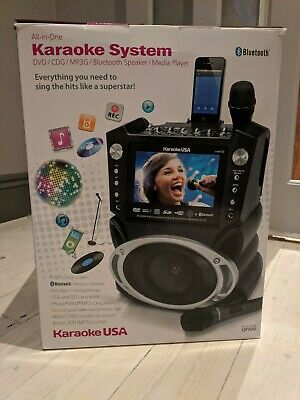 Bluetooth Karaoke Machine Speaker - Microphones & Remote - Comes With Music Cds • 31£