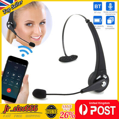 £17.59 • Buy Bluetooth Call Center Headphones Trucker Noise Cancelling Headset For PC Phones