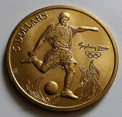 Sydney Olympic Games 2000 Australia Collectable $5 Five Dollars Coin: Football • 4.99£