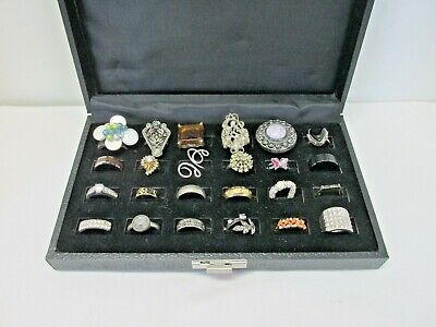$ CDN1.29 • Buy Lot Of 24 Vintage To Now Costume Rings, Various Styles & Sizes #72B