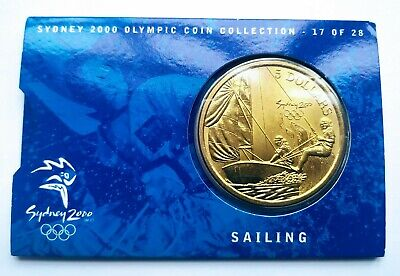 Sydney Olympic Games 2000 Australia Collectable $5 Five Dollars Coin: Sailing • 6.99£