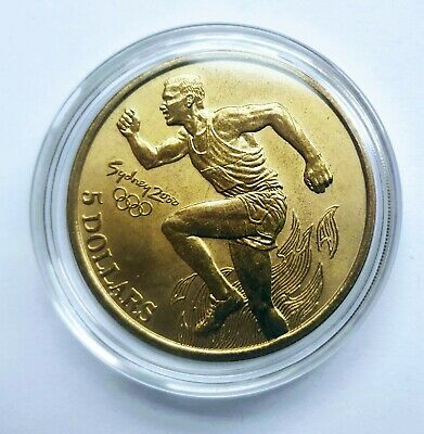 Sydney Olympic Games 2000 Australia Collectable $5 Five Dollars Coin: Athletics • 6.99£