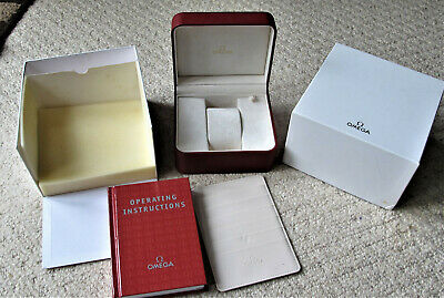 Omega Watch Case Box With Outer For Speedmasters Etc  Very Nice  2000's • 120£