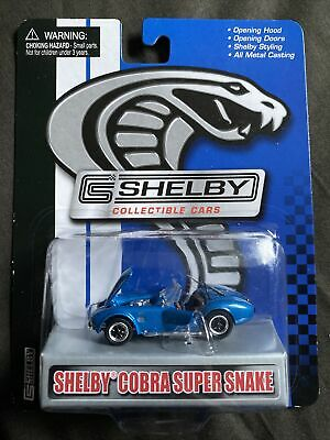 Shelby Collectibles 1/64 Shelby Cobra Super Snake 427 Twin Supercharged Blue • 17£