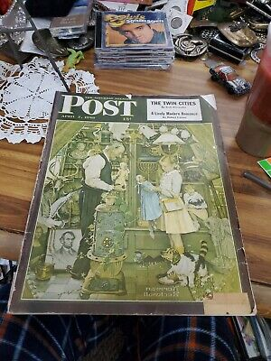 $ CDN11.25 • Buy Saturday Evening Post April 3, 1948 - Norman Rockwell Babe Ruth + A NASH!