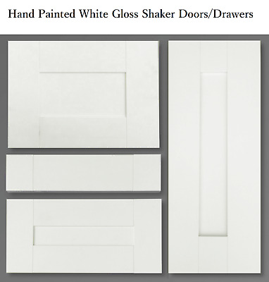 £18 • Buy  Kitchen Base Wall Shaker Door Drawer Fronts White Gloss Painted All Sizes
