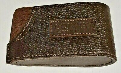 Conway Leather Padded Slip On Recoil Butt Pad  Heel Plate / Stock Extension • 12.50£