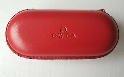 Genuine Omega Travel Watch Box Service Case With Foam Inserts Pouch Box Red • 4.99£