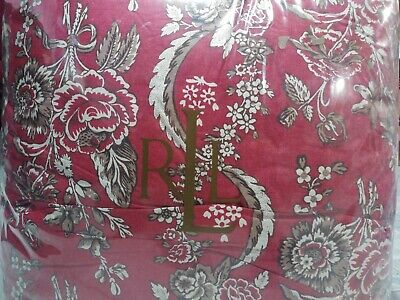 $ CDN316.44 • Buy Brand New Ralph Lauren Red Floral Full/queen 4 Pc Comforter Set