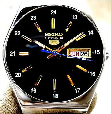 $ CDN69.88 • Buy Vintage Japan Seiko Automatic Black.. 24 Hours Railway Time Day Date Mens Watch