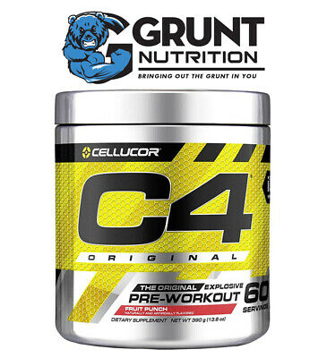 AU55 • Buy Cellucor C4 Original 60 Serves C4 Explosive Pre Workout W/Creatine Nitrate