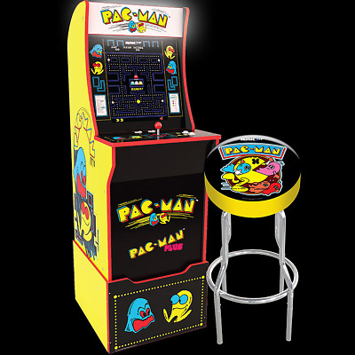 £499.95 • Buy Arcade1UP Arcade Game Machine Classic Pac-Man Cabinet Including Riser Stool