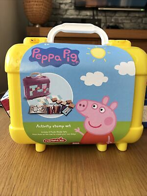 £12 • Buy Peppa Pig Wooden Stampers Colouring Set - Childrens Kids Art Case Yellow