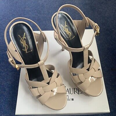 Authentic Nude YSL Tribute Heels Size 39 • 290.99£