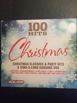 100 Hits Christmas Classics Party + Karaoke Used 80 Track Cd +20 Track DVD • 3.50£