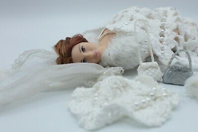 CURVY Barbie Bride Doll Wedding OOAK Accessories Bundle - Mattel Other Doll Head • 39.99£