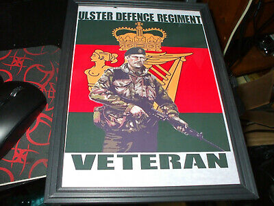 The Ulster Defence Regiment Used Framed A4 Print • 6.50£