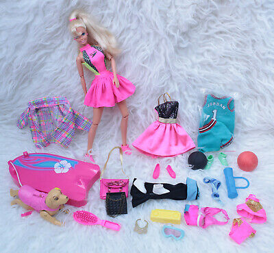 VINTAGE NEW OOAK  Barbie Doll NBA  Yoga Accessories Bundle • 42.42£