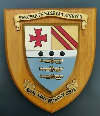 Regimental Wall Plaque Sargeant's Mess CAD Kineton • 10£