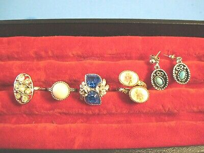 $ CDN9.15 • Buy Sarah Coventry Lot Of  Vintage Jewelry Signed Rings And Earrings