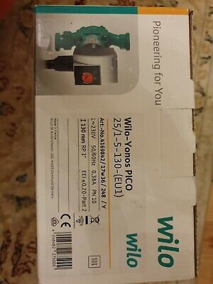 Central Heating Pump WILO Yonos Pico 25/1-5-130 New • 35£