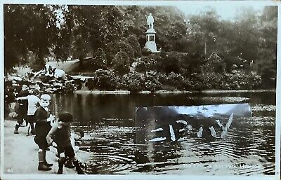 The Lake, Sefton Park, Liverpool. Real Photographic Postcard. • 8£