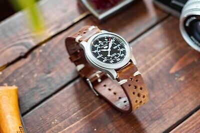 $ CDN195 • Buy Seiko 5 SNK809 Automatic (mechanical) Field Watch With Brown Leather Rally Strap