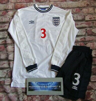 PLAYER ISSUE LONG SLEEVE England Football Shirt Kit Top 99 2000 Size XL  • 240£
