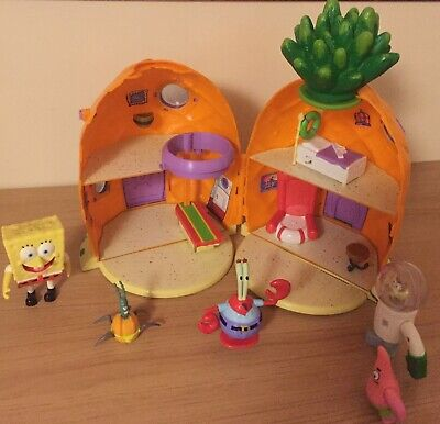 Rare SpongeBob Squarepants Pineapple House, Figures & Accessories Good Used Cond • 41£