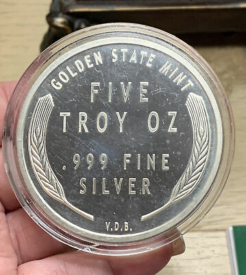 $ CDN202.26 • Buy 5oz .999 Fine Silver 1909 VDB Luncoln Wheat Cent  In Capsule - Garden State Mint