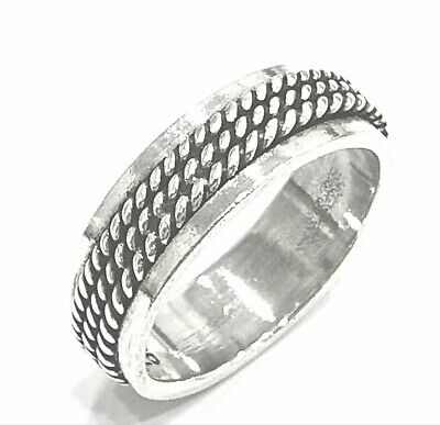925 Sterling Silver Solid Plain Spinning Thumbs Ladies & Men Ring • 24.22£