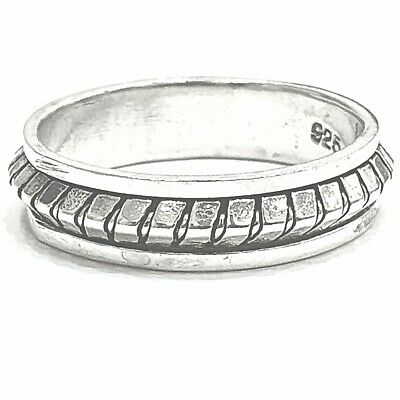 925 Sterling Silver Solid Plain Spinning Thumbs Ladies & Men Ring • 29.66£
