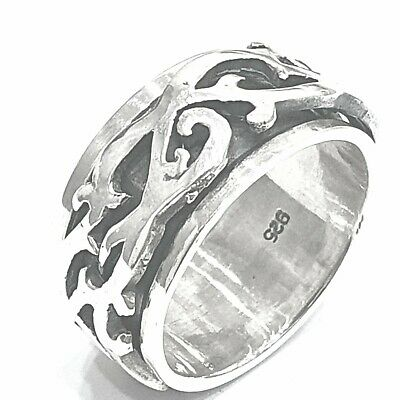 925 Sterling Silver Solid Plain Spinning Heavy Thumbs Ladies & Men Ring • 38.85£