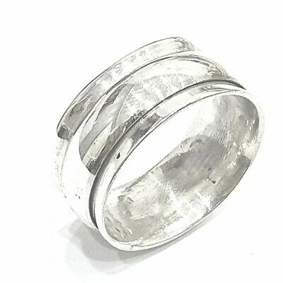 925 Sterling Silver Solid Plain Spinning Thumbs Ladies & Men Ring • 32.42£