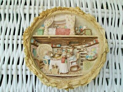**brambly Hedge** Border Fine Arts Harvest Mice Plaque Bh105 By Jill Barklem • 88£