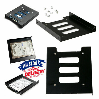 AU5.19 • Buy Black Bracket HDD Mounting Adapter Dock Tray 2.5  SSD To 3.5  Bay Hard Drive
