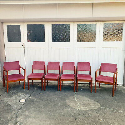 AU1450 • Buy 6 Chiswell Mid Century Dining Chairs W/ Carvers ~ Eames Parker Fler Don Rex Era