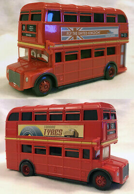 $ CDN10.19 • Buy Disney Pixar Cars Deluxe #4 Double Decker Bus 91 Crosshead Mattel Die Cast 1:55