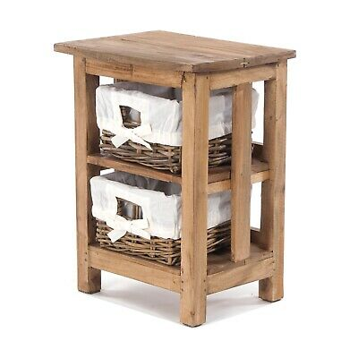 BATHROOM CHEST OF DRAWERS | Wood, Rattan, 51x38x29cm (HxWxD) | Storage Unit • 39.95£